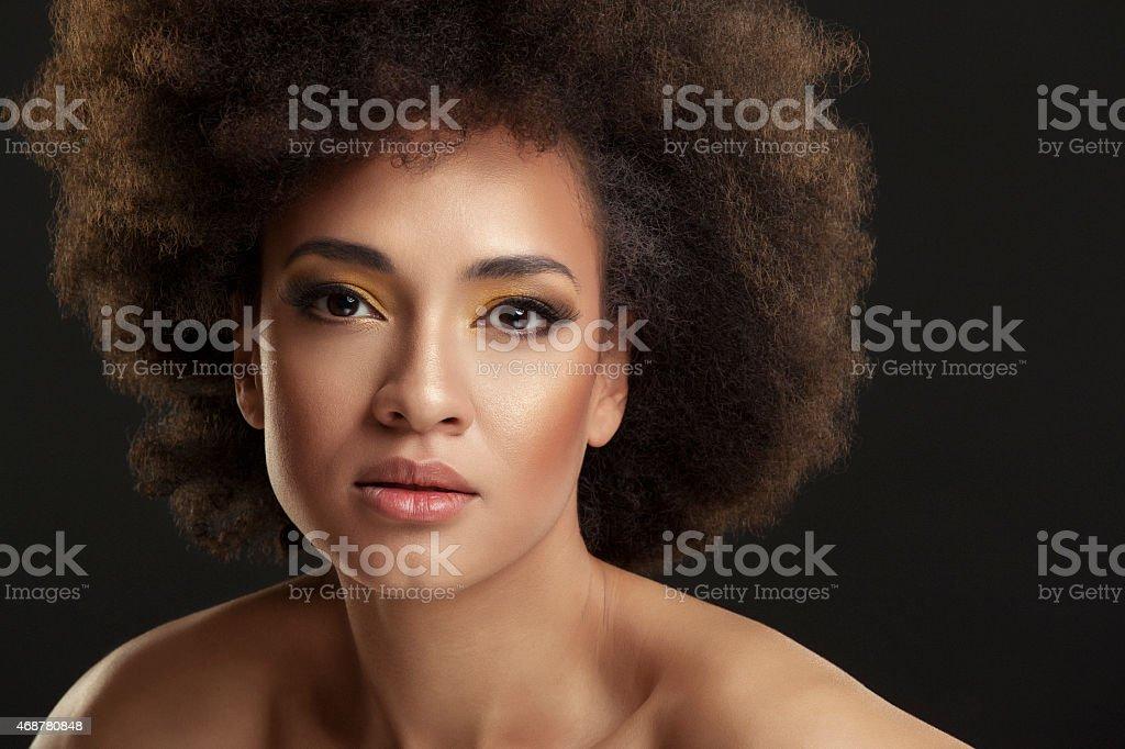 Beauty portrait of beautiful young woman stock photo