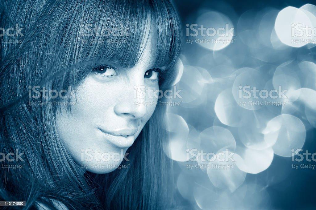 Beauty portrait of cute girl stock photo