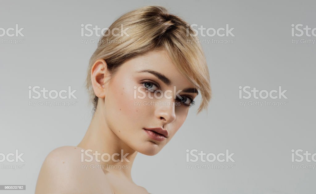 Beauty portrait of young beautiful female model