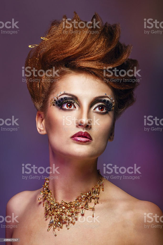 Beauty portrait of girl royalty-free stock photo