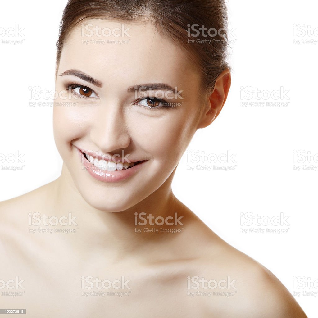Beauty portrait of young fresh girl royalty-free stock photo