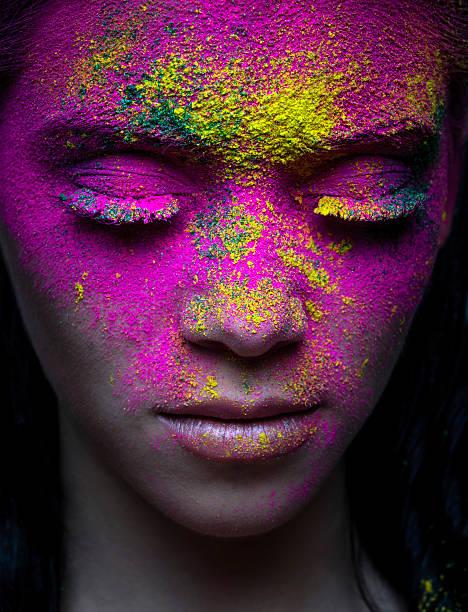 schönheit portrait - rosa tarnfarbe stock-fotos und bilder