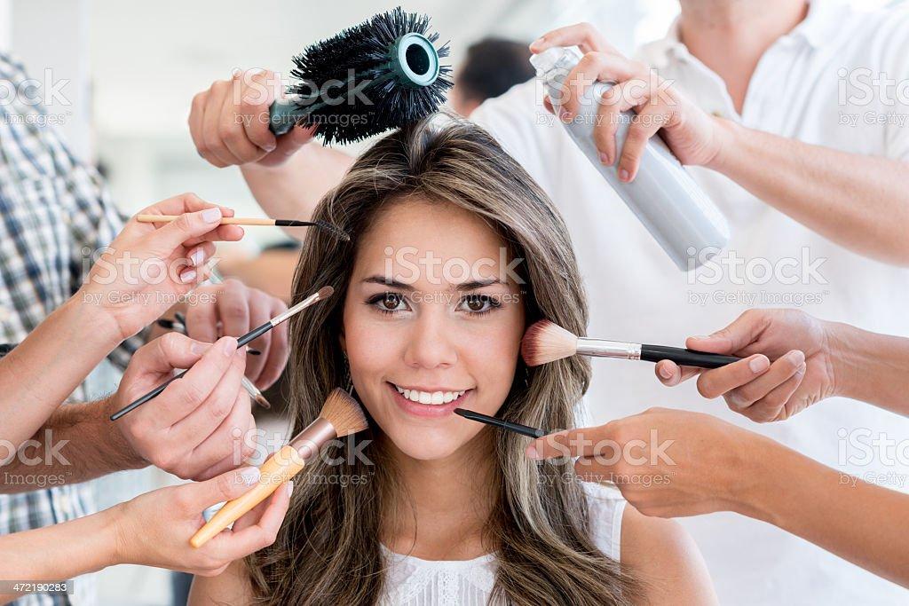 Beauty portrait stock photo