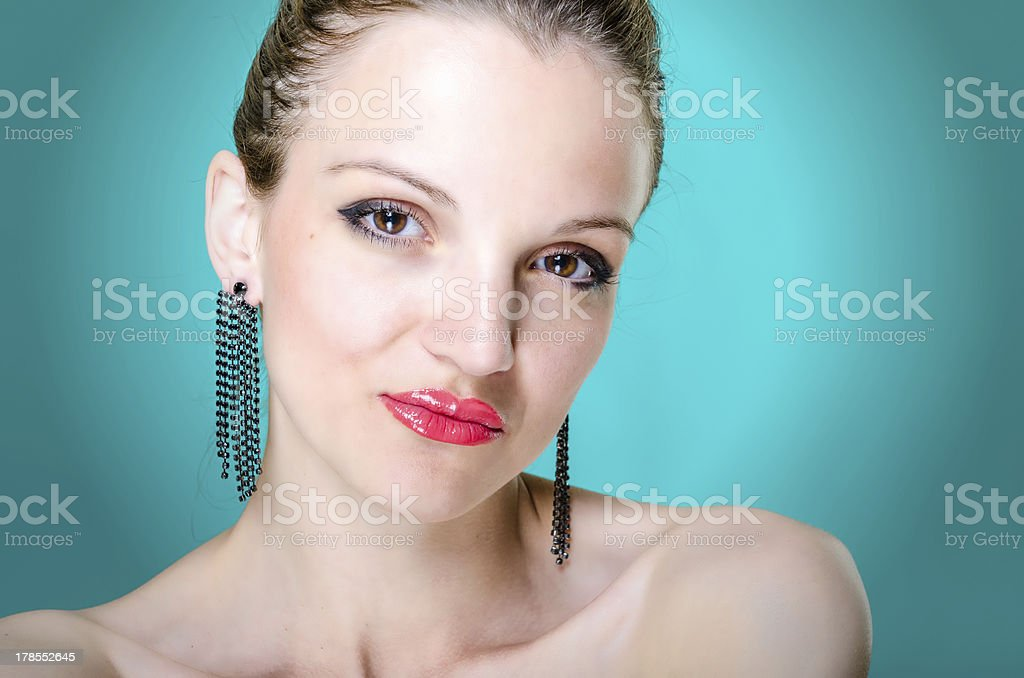 Beauty portrait young woman royalty-free stock photo