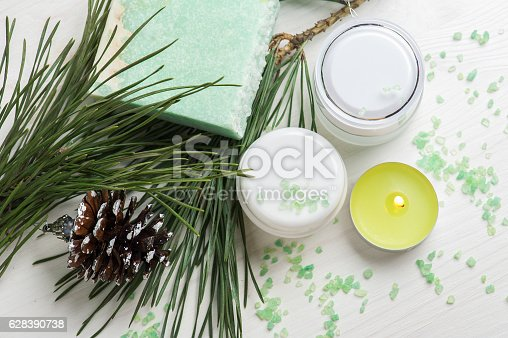 istock Beauty products and handmade soap 628390738