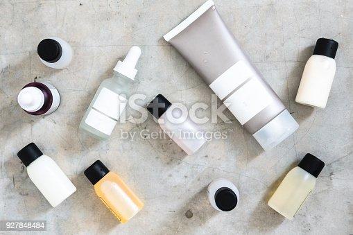 istock Beauty products minimlist flatlay 927848484