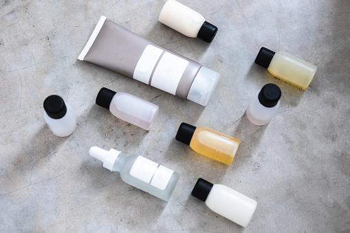 istock Beauty products minimlist flatlay 927848490