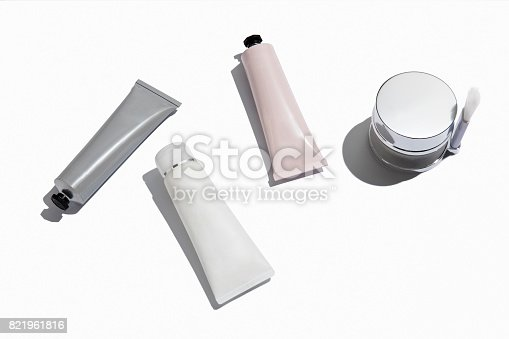 Beauty products isolated on white background ( with clipping path)
