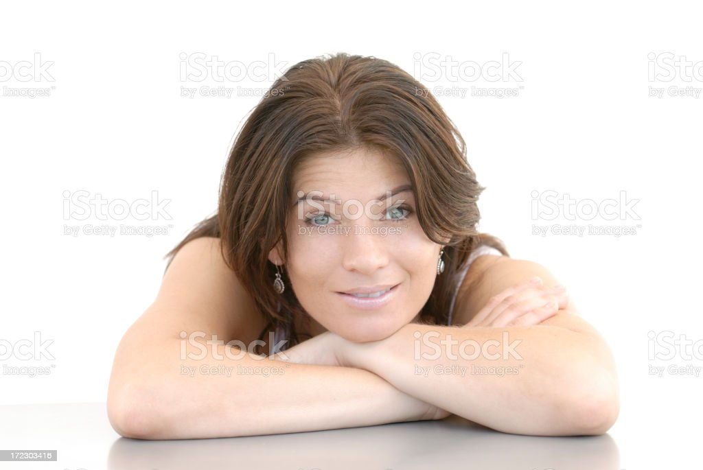 beauty relaxing stock photo
