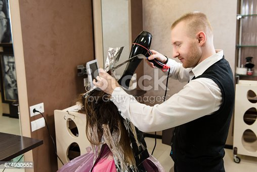 istock Beauty salon, hair care and people concept 674930552