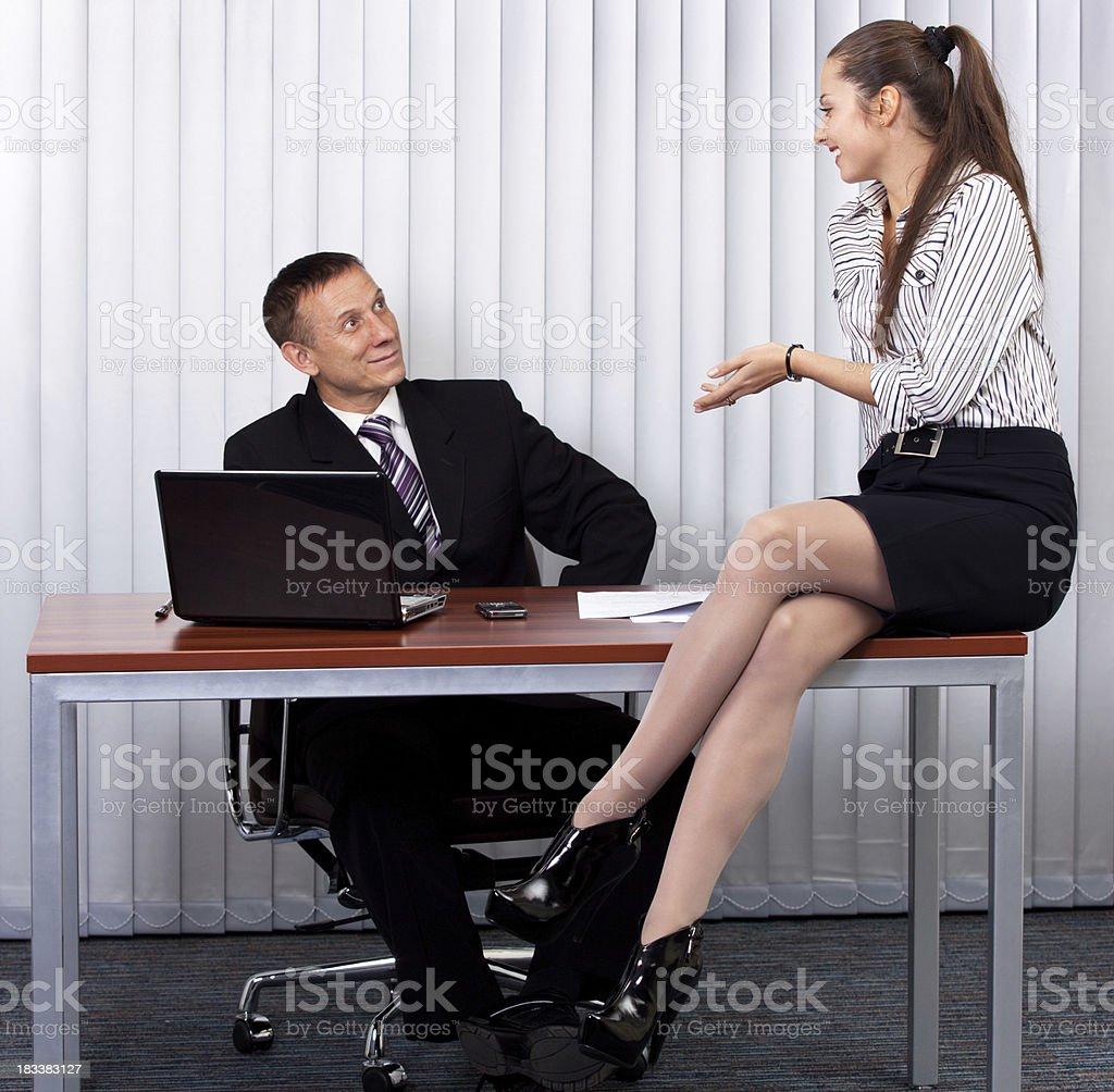 Flirten sekretärin