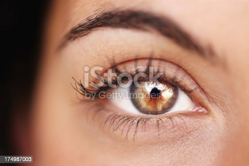 Cropped closeup of an attractive young woman's eye