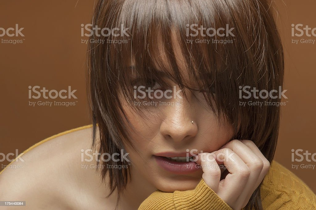 Beauty shot of a model stock photo