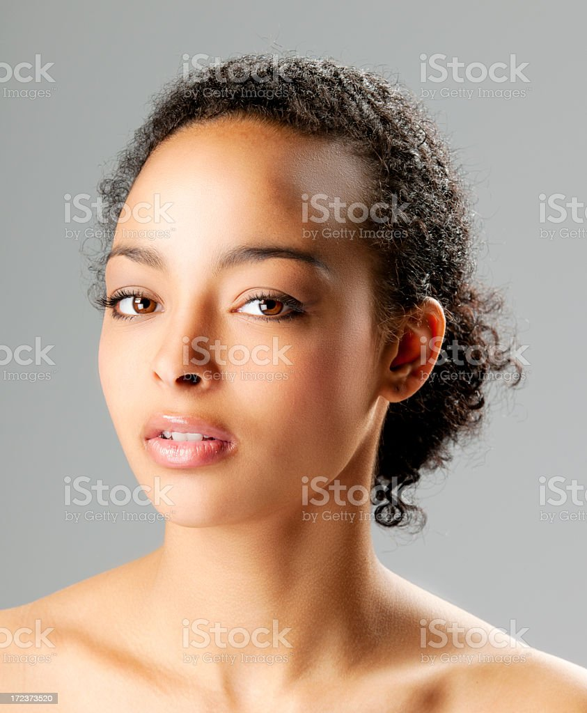 beauty shot of young ethnic woman royalty-free stock photo