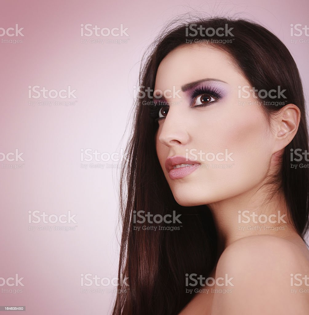 Beauty skin care and makeup portrait royalty-free stock photo