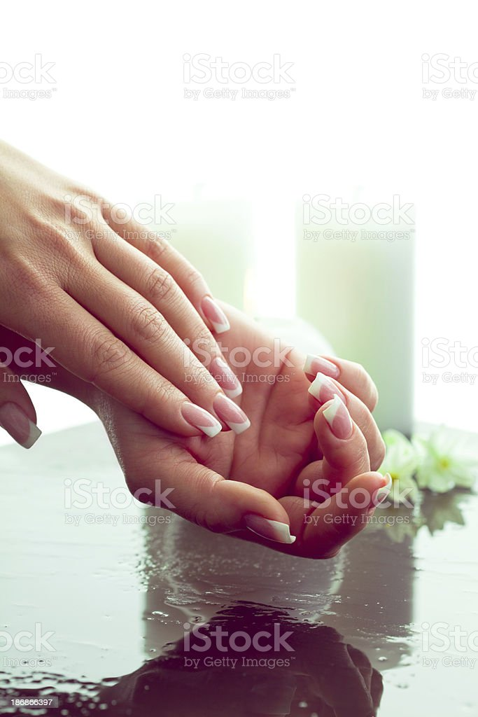 Beauty Spa for hands royalty-free stock photo