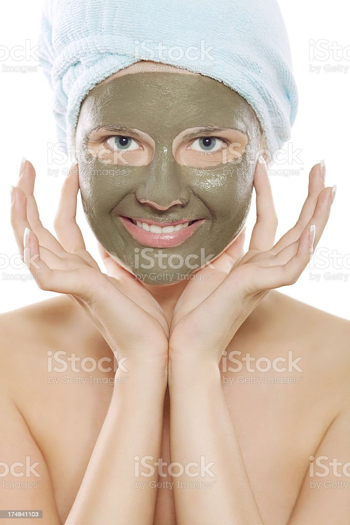 Beauty spa treatment with mud royalty-free stock photo