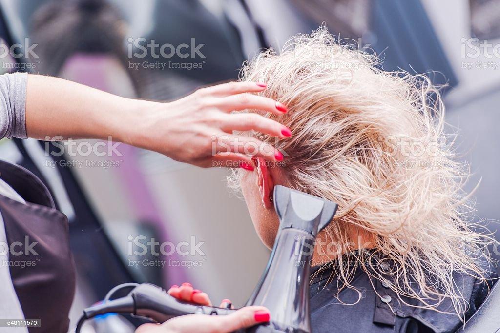 Beauty Studio Hairstylist stock photo