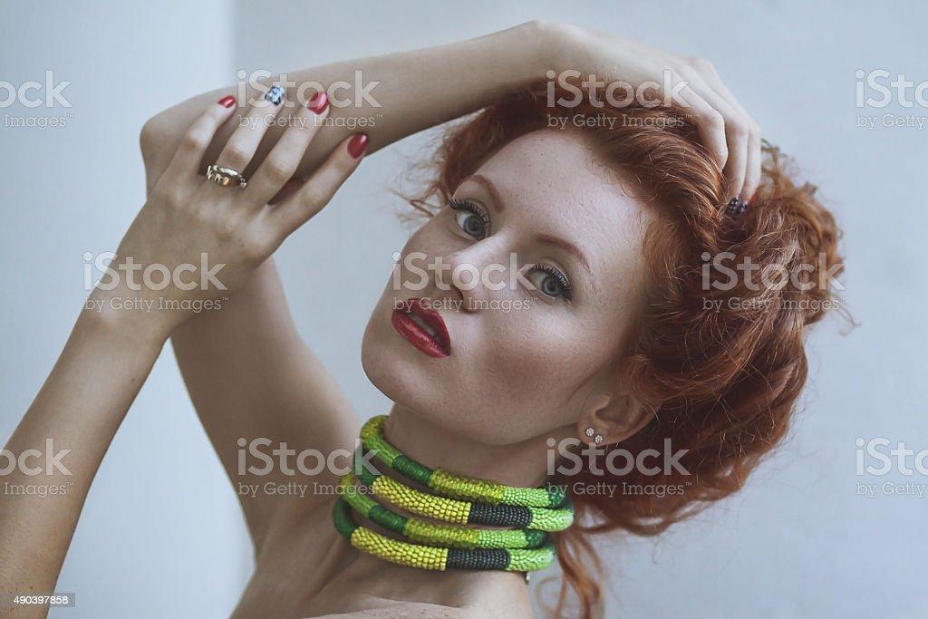 Naked busty women long hair