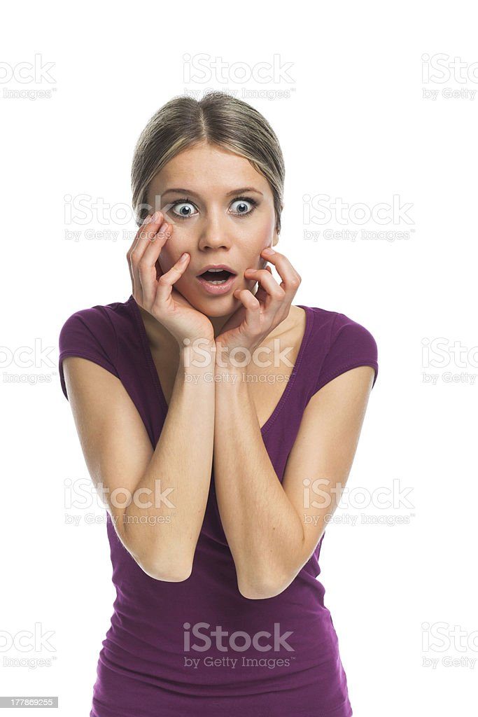 Beauty surprised royalty-free stock photo