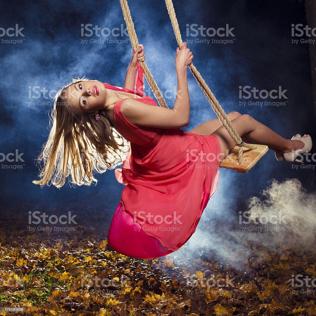 Beauty Swing in Heaven royalty-free stock photo