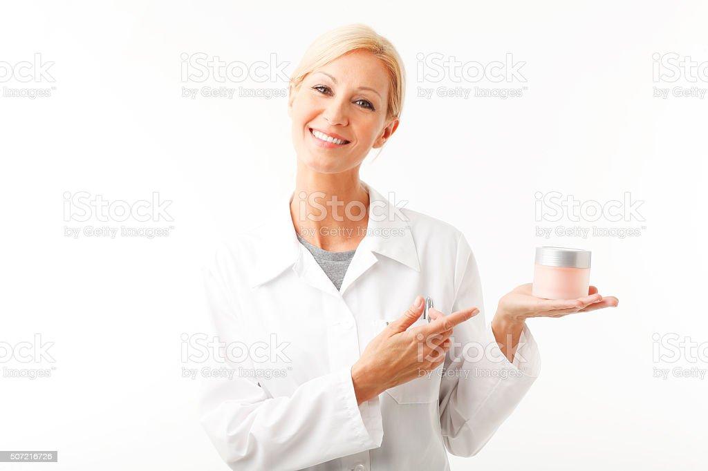 Beauty therapist stock photo