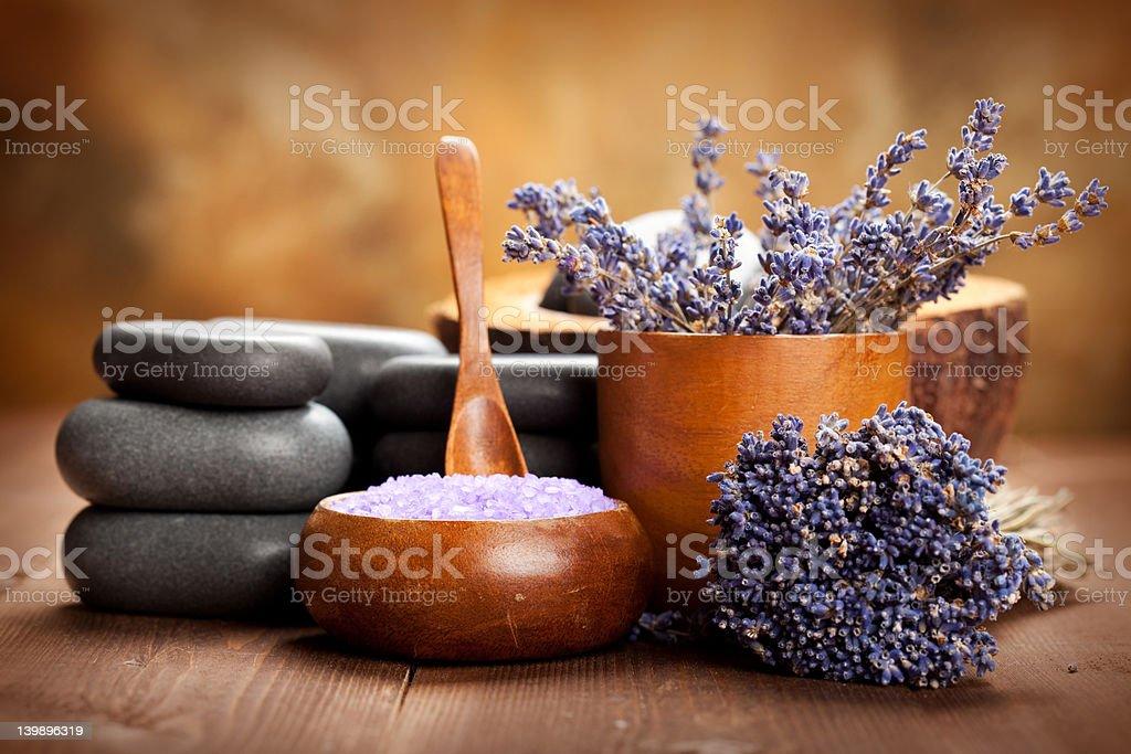 Beauty treatment - lavender spa royalty-free stock photo