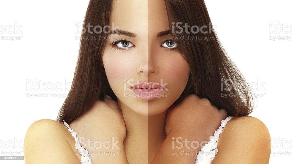 Beauty visual about suntan. stock photo