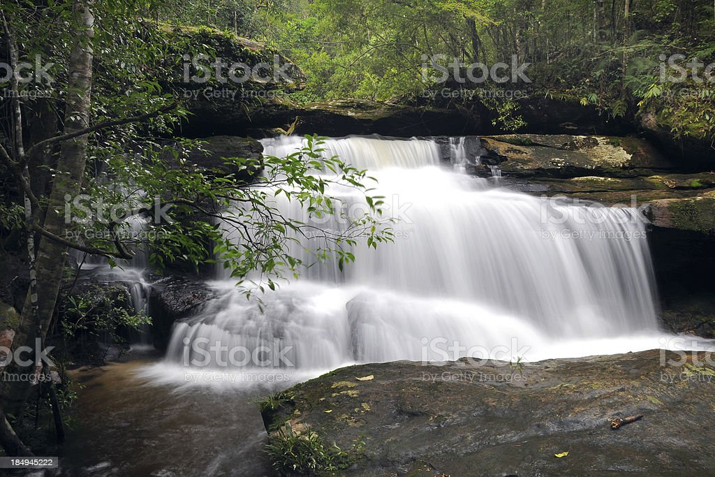 Beauty Waterfall in forest royalty-free stock photo