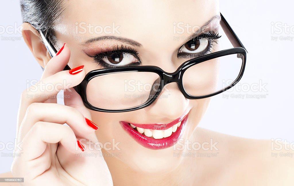 Schönheit mit eyeglasses – Foto