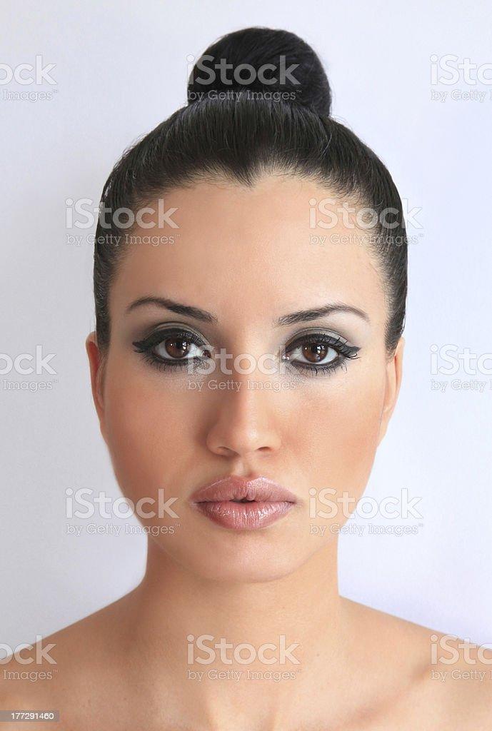 Beauty with Hair Bun royalty-free stock photo