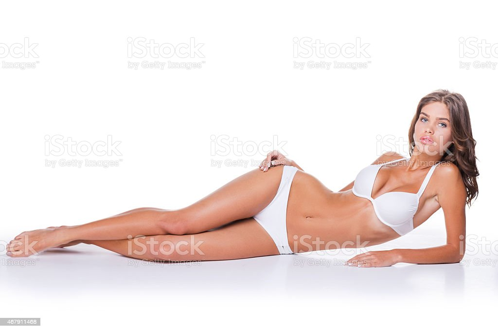 Beauty with perfect body. stock photo