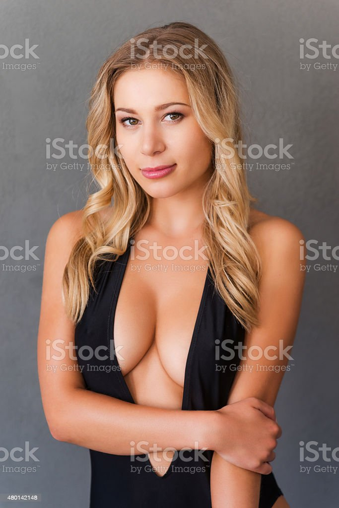 Beauty with perfect curves. stock photo