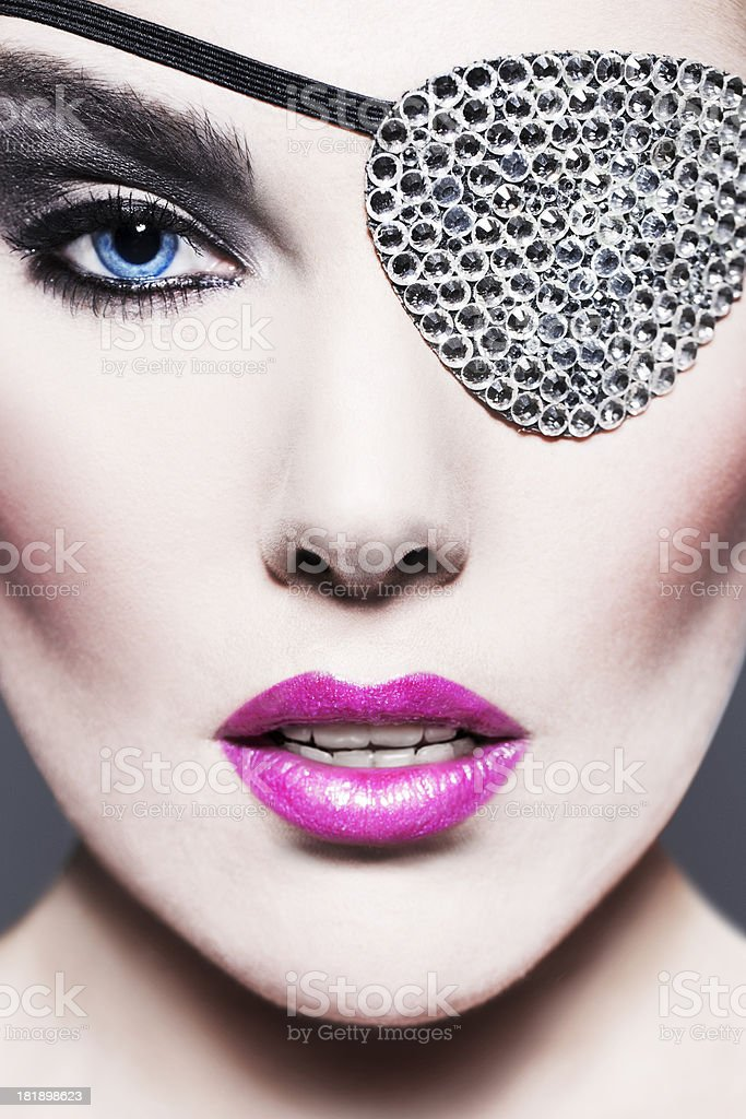 Beauty with Swarovski Eye Patch stock photo