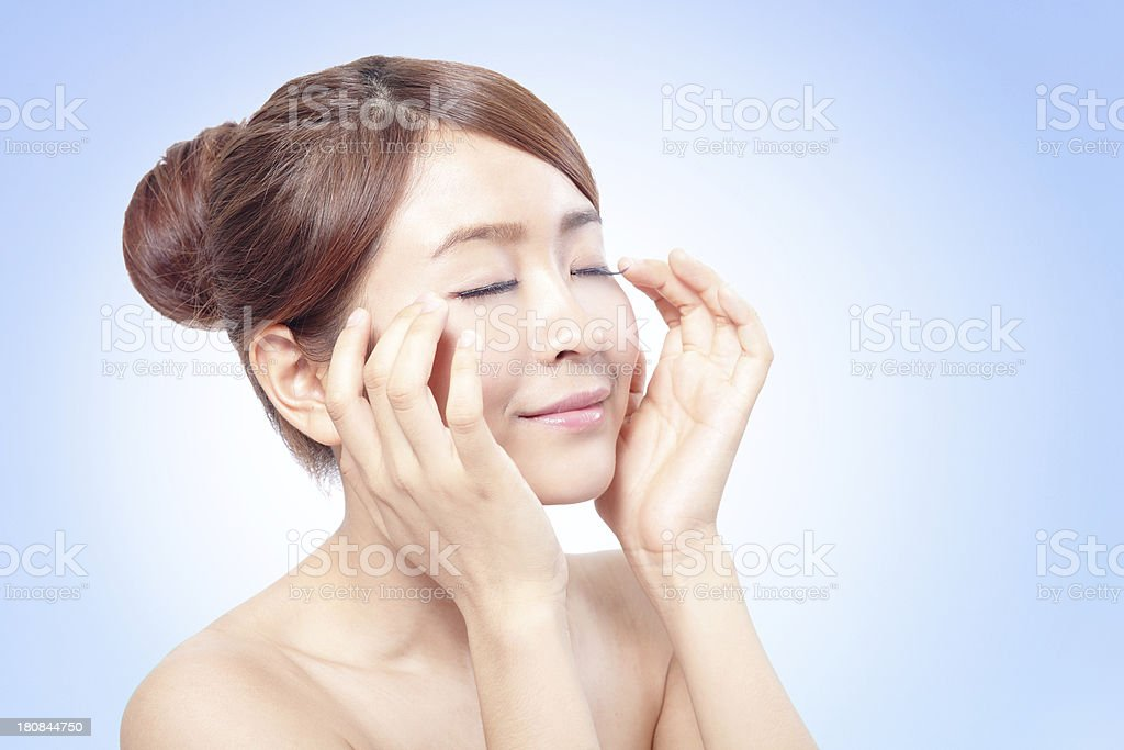 Beauty woman Face for skin care concept royalty-free stock photo