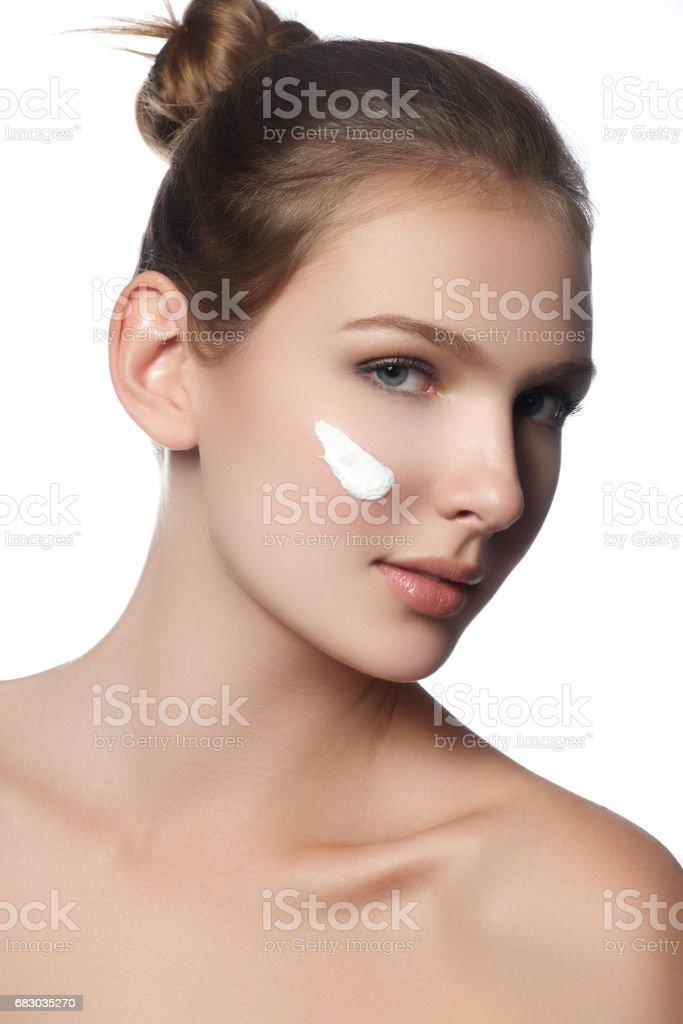 Beauty woman face portrait. Spa model girl foto de stock royalty-free