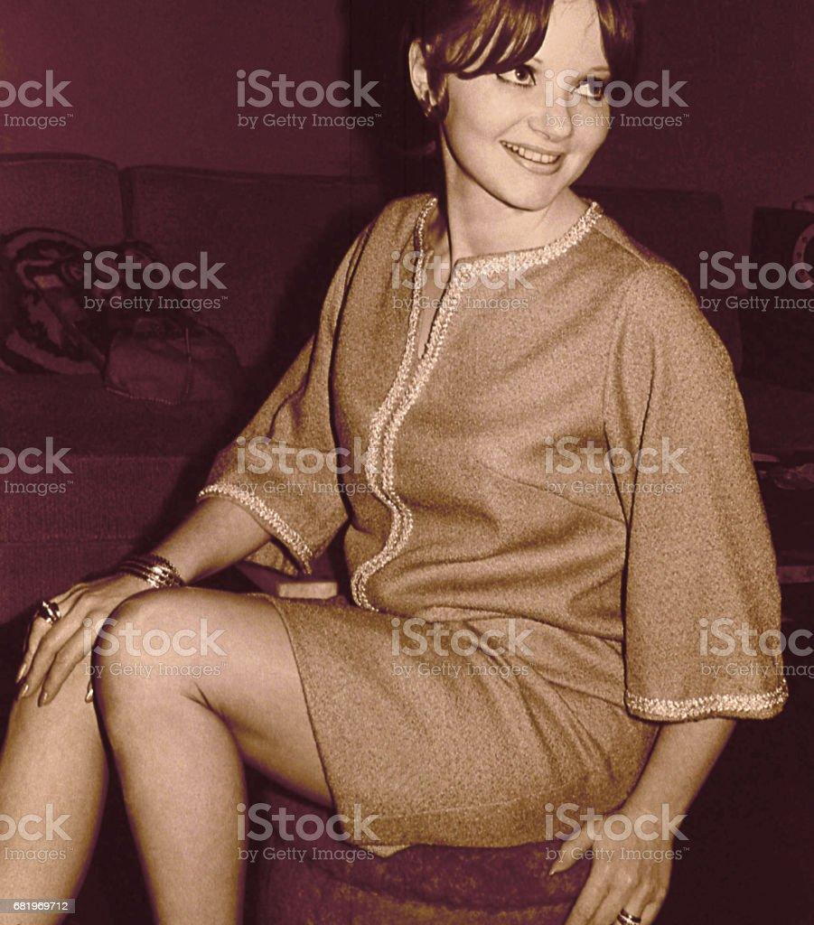 Mulher de beleza dos anos sessenta - foto de acervo