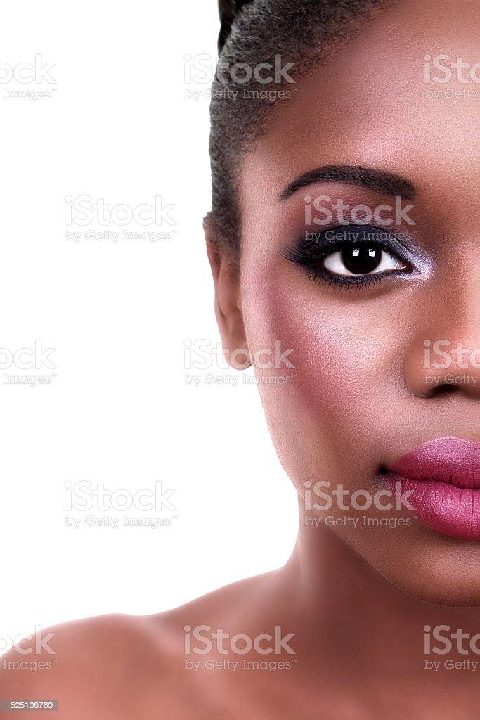 Beauty Woman Half Face stock photo