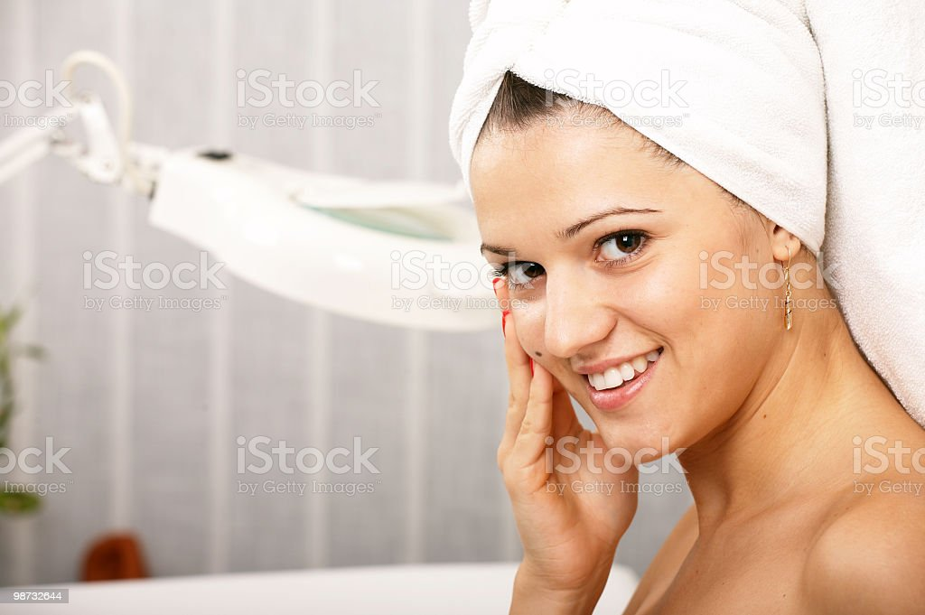 Beauty woman in salon royalty-free stock photo