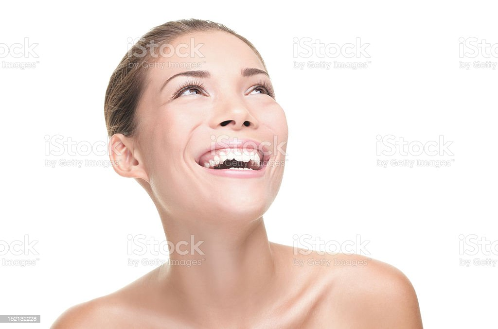 Beauty woman laughing royalty-free stock photo
