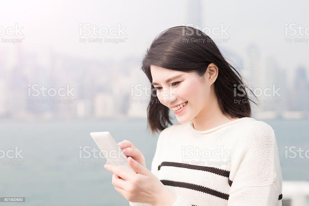 beauty woman smile and selfie photo libre de droits