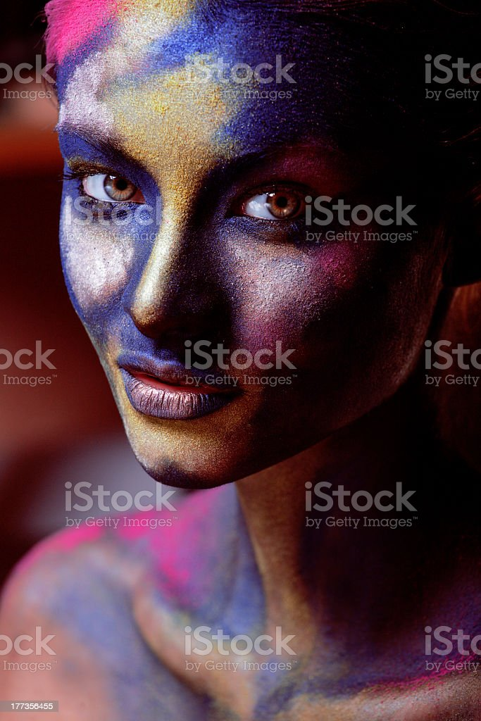 beauty woman with creative make up royalty-free stock photo