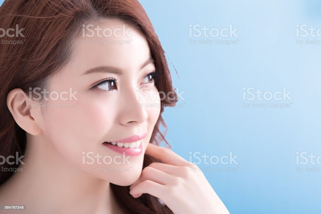 Beauty woman with health skin stock photo
