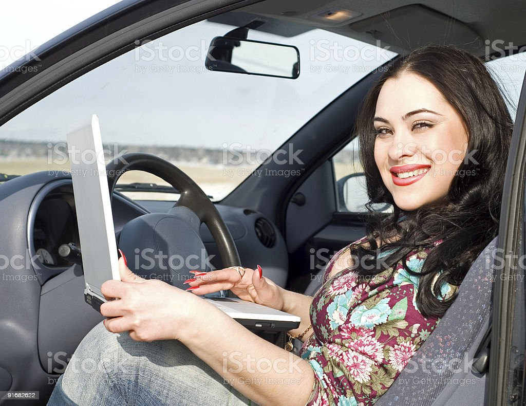 beauty woman with notebook royalty-free stock photo