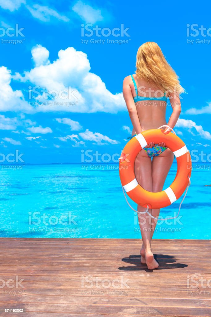 Beauty Young Girl In Holiday stock photo