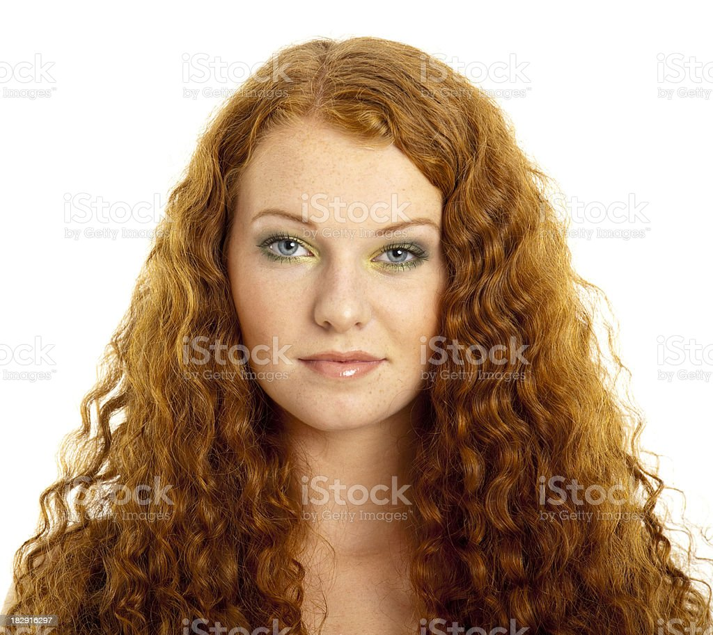 beauty young redhead woman royalty-free stock photo