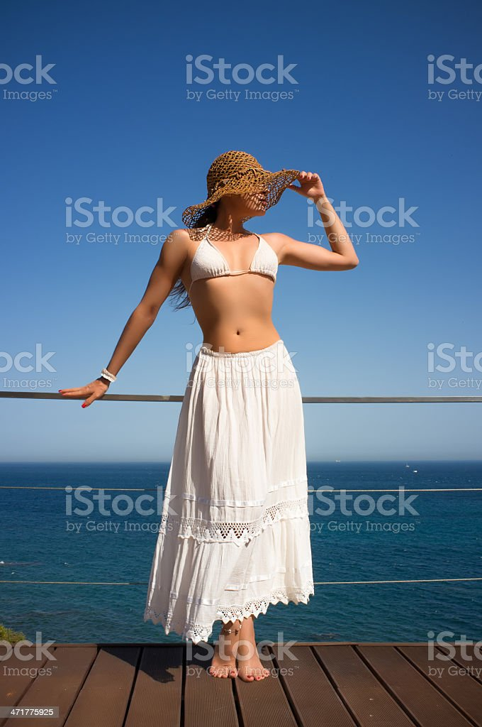 Beauty Young Woman Enjoying a Sunny Day royalty-free stock photo