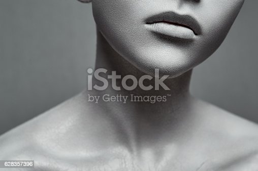 istock Beauty young Woman like a Statue 628357396