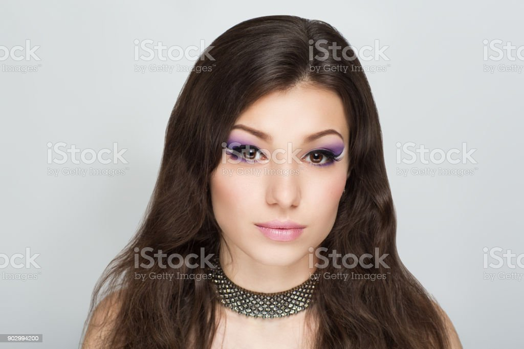 beauty young woman make up stock photo