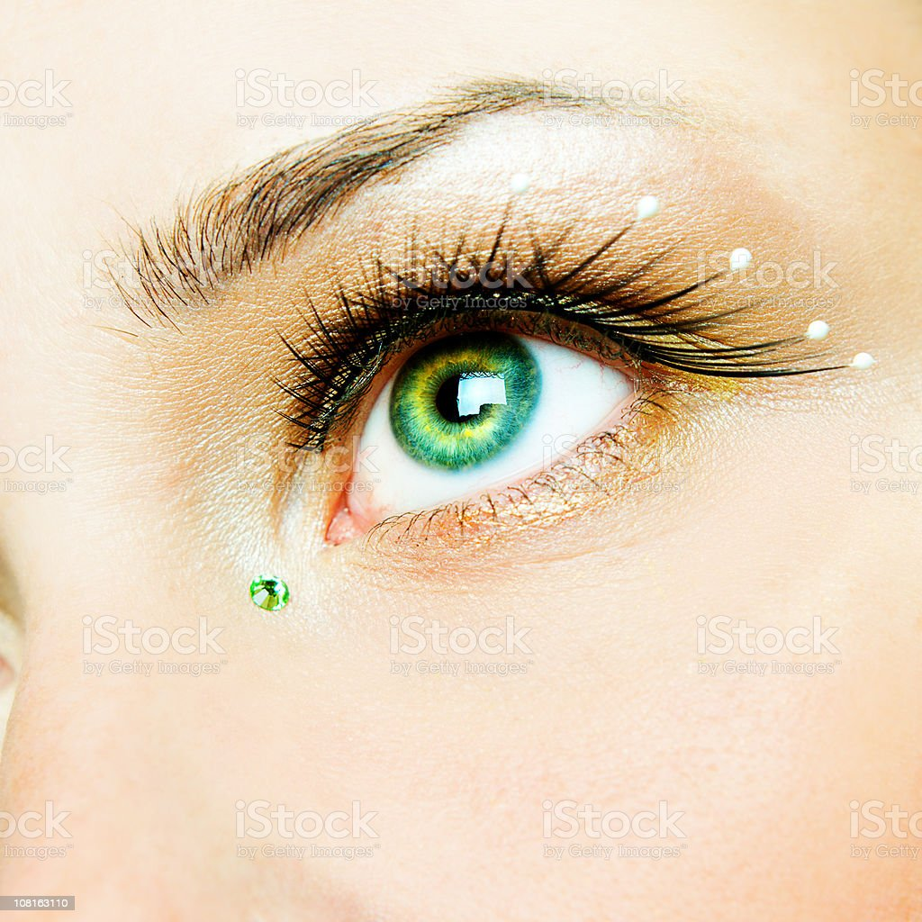 Beauty-eyelashes royalty-free stock photo